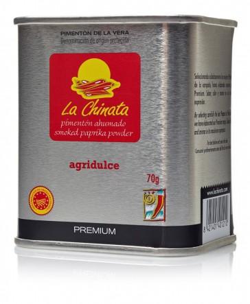 "Lata Agridulce 70 gr. Pimentón Ahumado ""La Chinata"" PREMIUM"