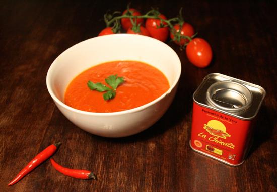 """Triple Sopa de Tomate con Pimentón Ahumado """"La Chinata"""""""