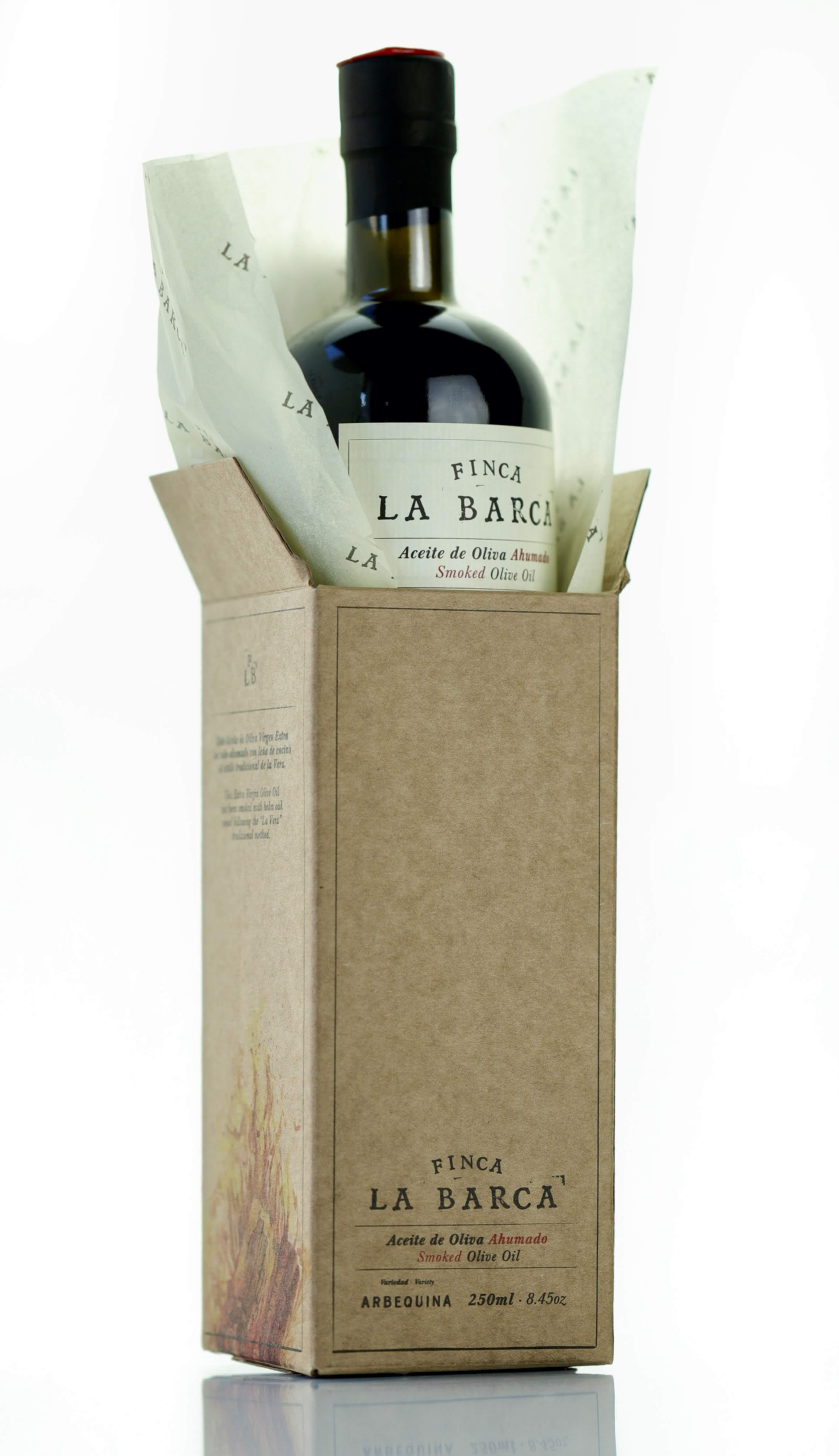 "Aceite de Oliva Ahumado ""Finca La Barca"" botella 250 ml. - Caja Regalo"