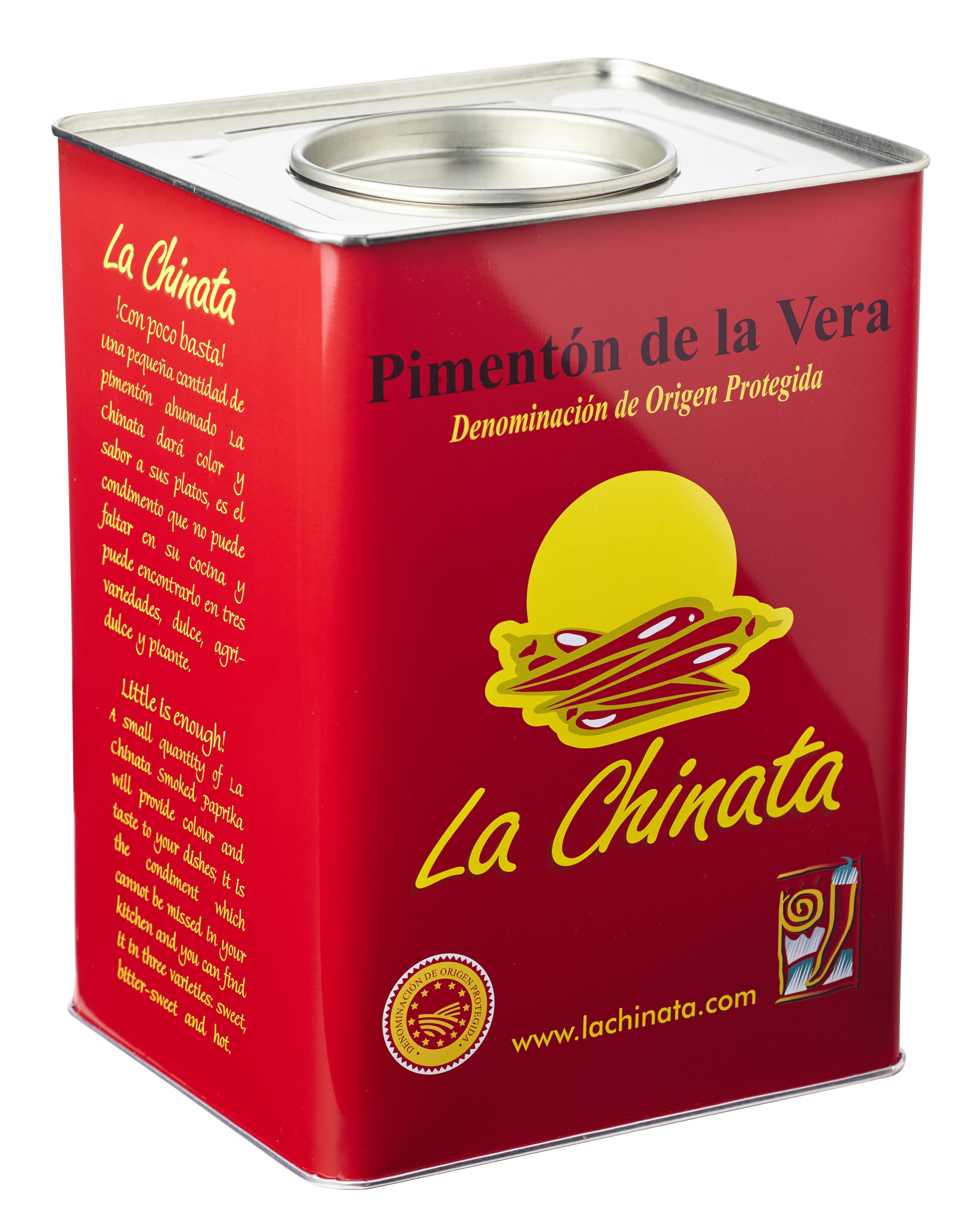 """Lata Picante 4,5 Kg. Pimentón Ahumado """"La Chinata"""""""