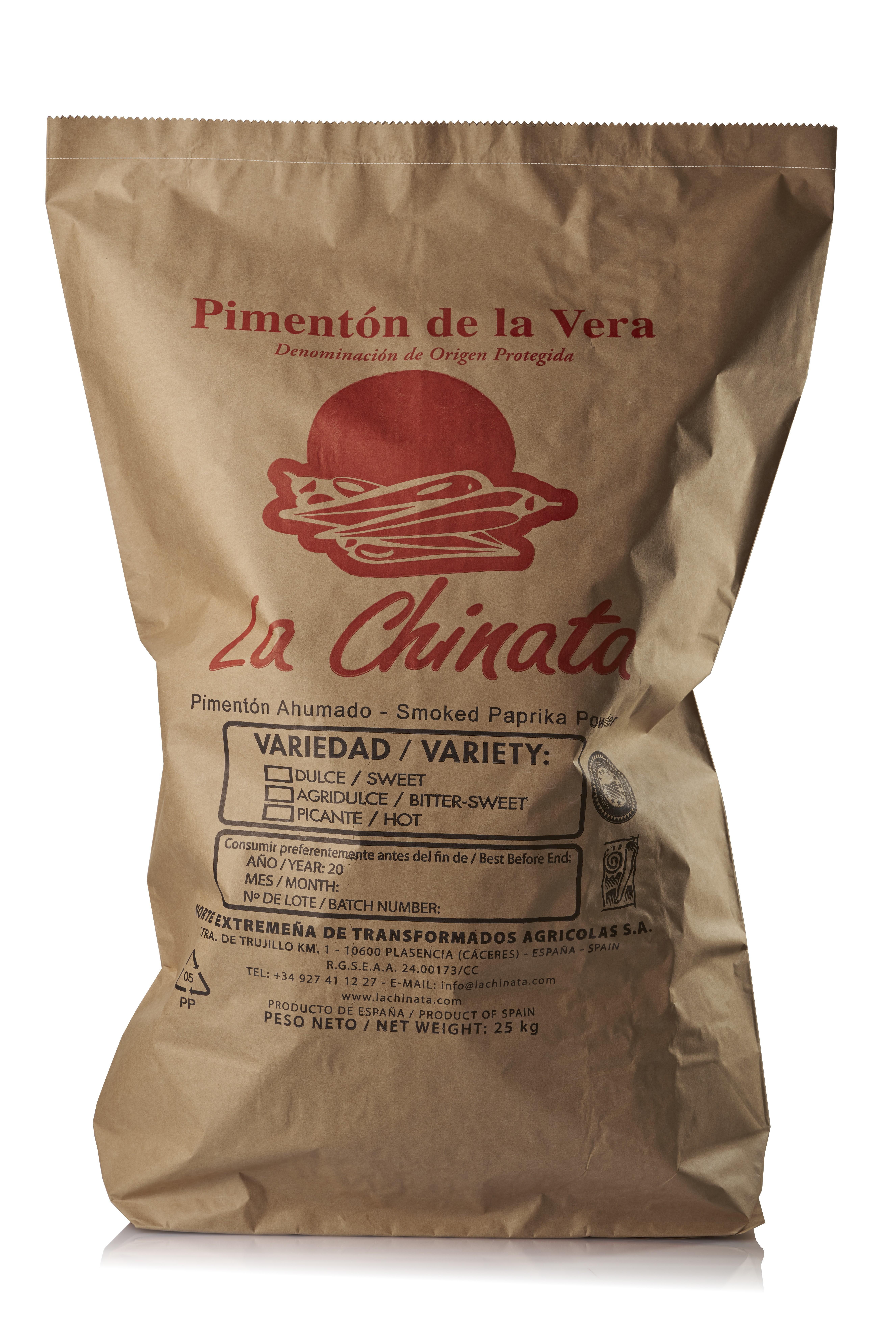 """Saco Dulce 25 Kg. Pimentón Ahumado """"La Chinata"""""""