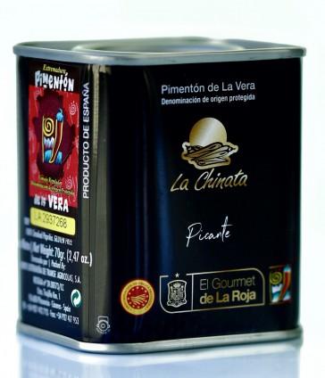 """Lata """"EL GOURMET DE LA ROJA"""" Picante 70g Pimentón Ahumado """"La Chinata"""""""