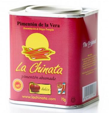 """Lata Benéfica AOEX - Dulce 70g Pimentón Ahumado """"La Chinata"""" by Alba Deliz"""