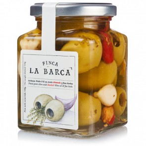 Pitted Green Olives with Smoked Olive Oil & Fine Herbs 130g