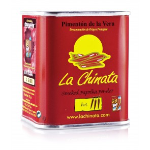 "Hot Smoked Paprika Powder ""La Chinata"" 70g Tin"