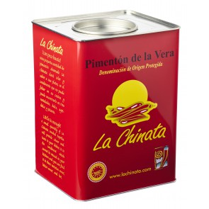 "Hot Smoked Paprika Powder ""La Chinata"" 4,5 Kg. Tin"