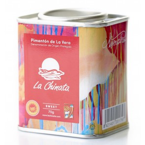 "Sweet Smoked Paprika Powder ""La Chinata"" 70g Tin by MISTERPIRO"