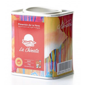 "Hot Smoked Paprika Powder ""La Chinata"" 70g Tin by MISTERPIRO"