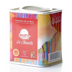 """Hot Smoked Paprika Powder """"La Chinata"""" 70g Tin by MISTERPIRO"""