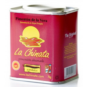 "Charity Tin - Bitter-Sweet Smoked Paprika Powder ""La Chinata"" 70g Tin by Alba Deliz"