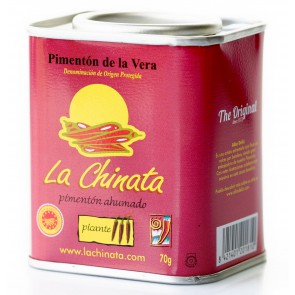 "Charity Tin - Hot Smoked Paprika Powder ""La Chinata"" 70g Tin by Alba Deliz"