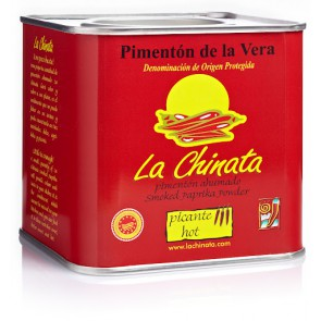 "Hot  Smoked Paprika Powder ""La Chinata"" 350g Tin"