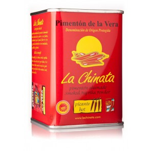 "Hot Tin Smoked Paprika Powder ""La Chinata"" 160g Tin"
