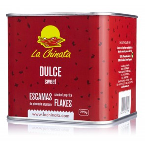 "Sweet Smoked Paprika Flakes ""La Chinata"" 290g Tin"