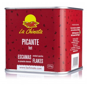 "Hot Smoked Paprika Flakes ""La Chinata"" 290g Tin"
