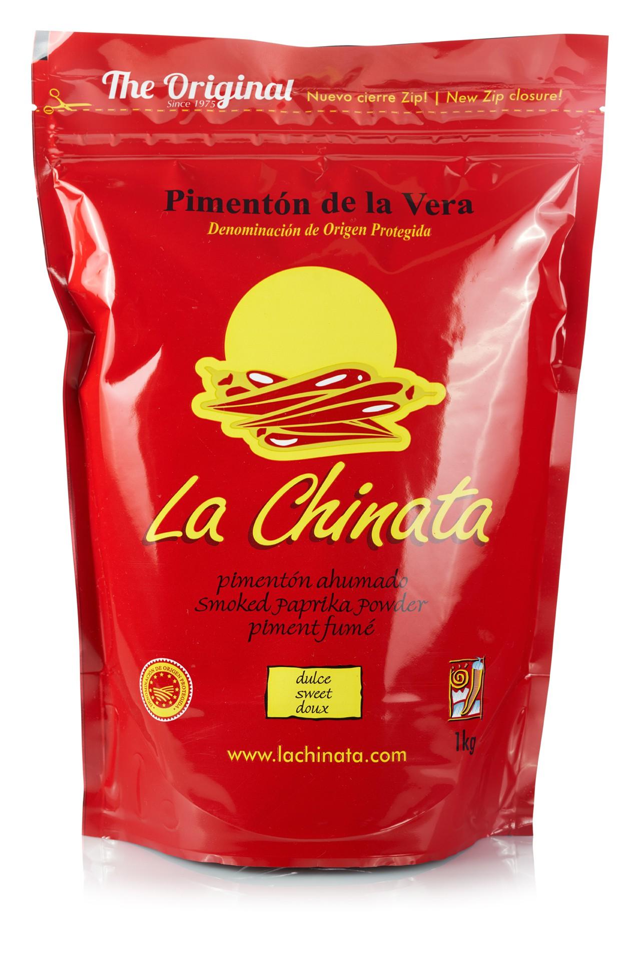 """Paprika Fumé """"La Chinata"""" Doux 1 kg. Zip Sac"""