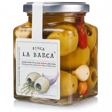 Olives Gordal désossées à l'huile d'olive fumée et fines herbes 130g