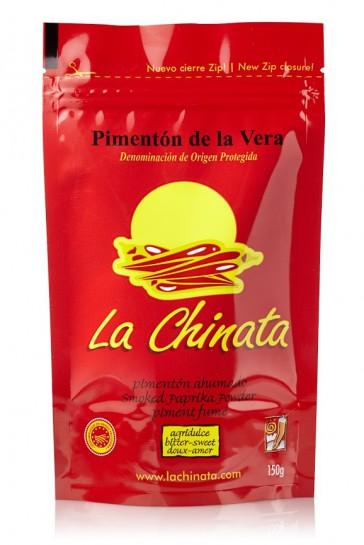 "Paprika Fumé ""La Chinata"" Agri-doux 150 Gr. Zip Sac"