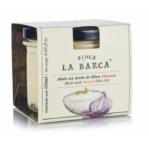 Alioli con Aceite de Oliva Ahumado tarro 120 ml.
