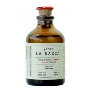 """Aceite de Oliva Ahumado """"Finca La Barca"""" botella 50 ml."""