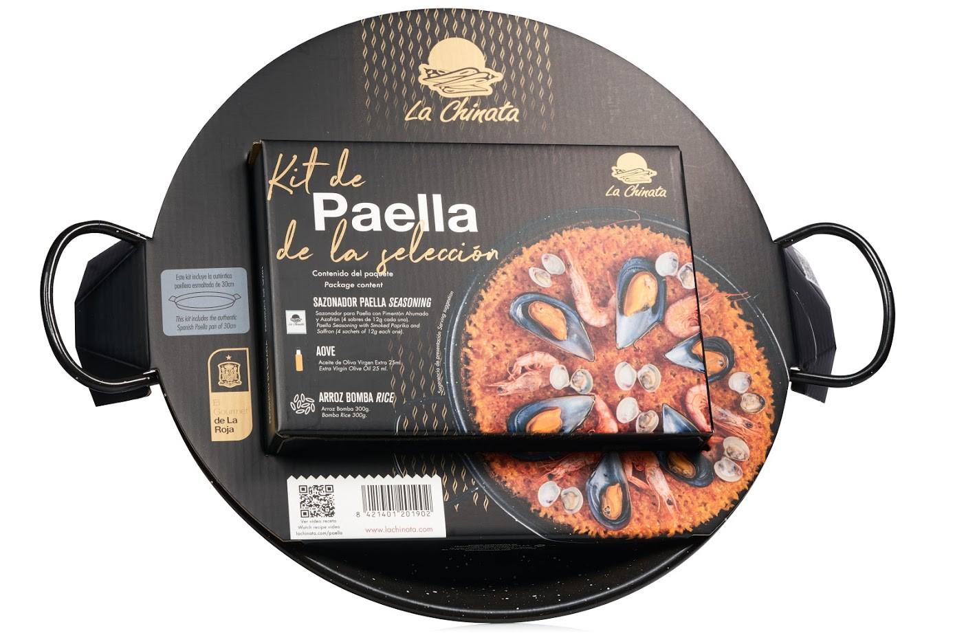 """KIT Paella La Chinata con Paellera 30cm """"EL GOURMET DE LA ROJA"""""""