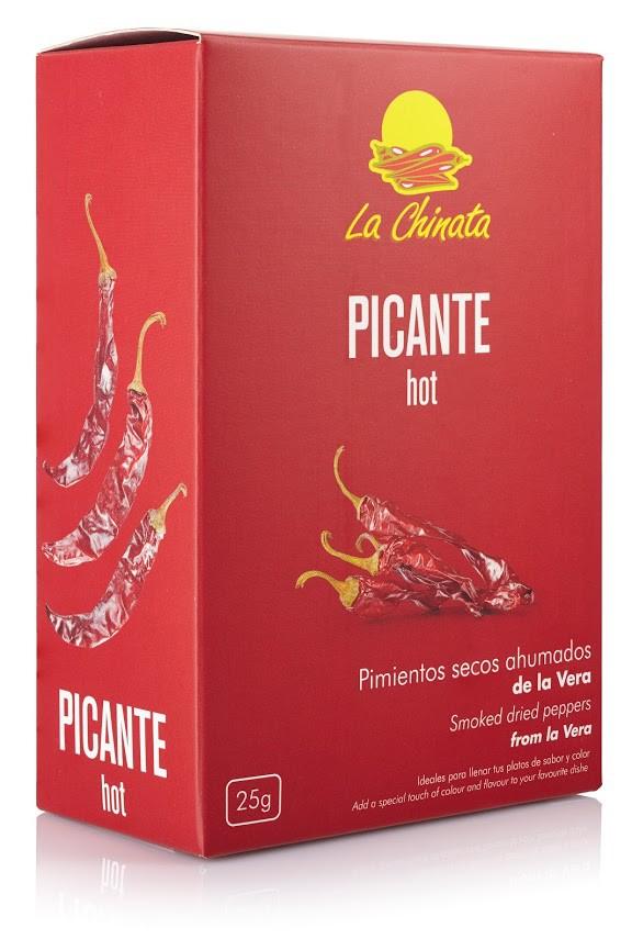 """Caja 25g Pimientos Ahumados Picantes """"La Chinata"""""""