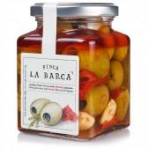 Aceitunas Gordal deshuesada con Aceite de Oliva Ahumado y Pimentón 130g