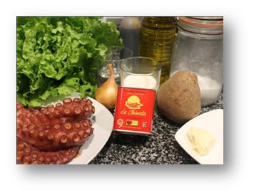 Ingredientes Ensalada Templada de Pulpo al Pimentón La Chinata