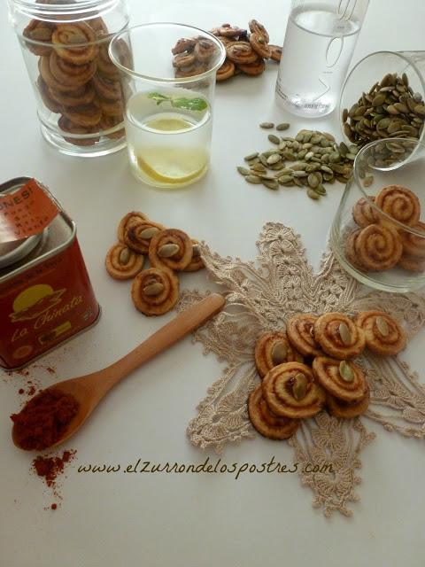 Snacks con Miel, Pimentón & Semillas de Calabazas
