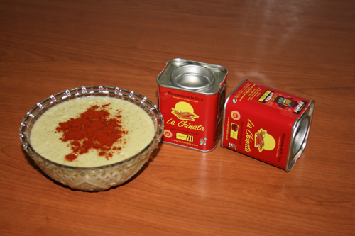 """Crema de Calabacin al Pimentón """"La Chinata"""""""