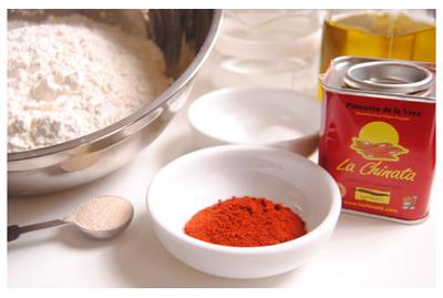 Ingredientes espirales de pan al Pimenton La Chinata